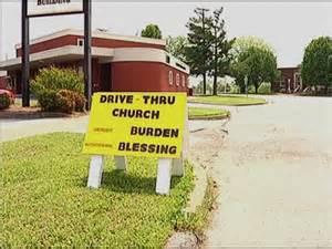 drive through church